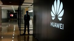A Huawei company logo is seen at a shopping mall in Shanghai, China June 3, 2019.
