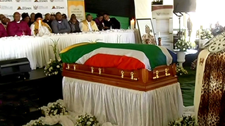 Laura Mpahlwa's coffin