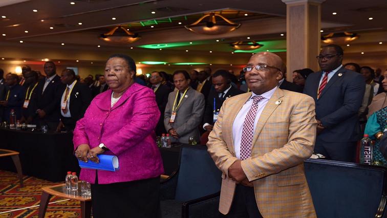 Dr Naledi Pandor and Dr Aaron Motsoaledi