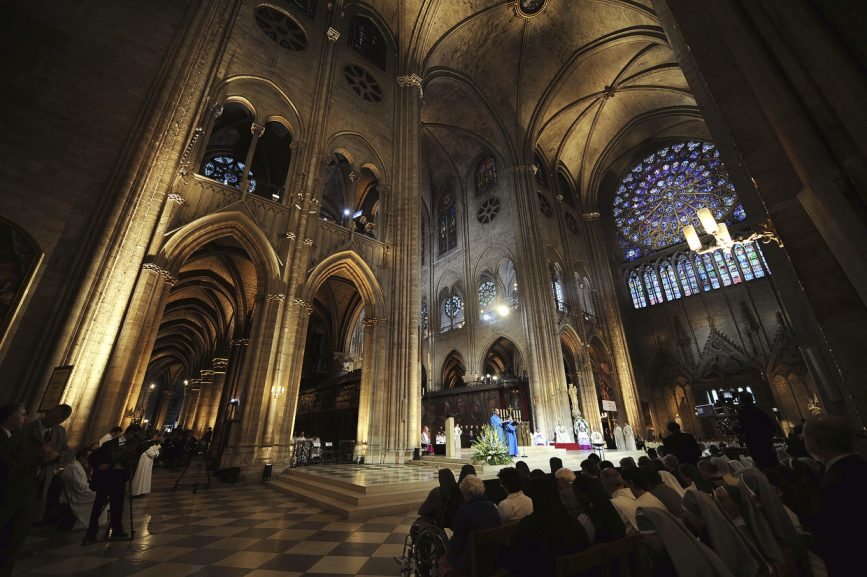 SABC News NotreDame Reuters 867x577 - Small congregation to attend first Notre-Dame mass service since fire