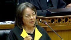 Patricia De Lille in parliament