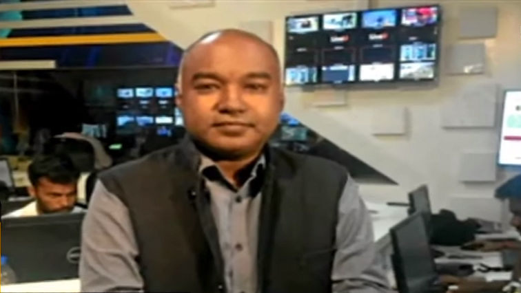 Former editor of the now defunct TV news channel ANN7, Rajesh Sundaram.