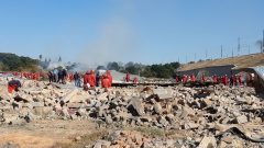 Red Ants demolish people's homes that have been labelled as illegal structures in Alexandra.