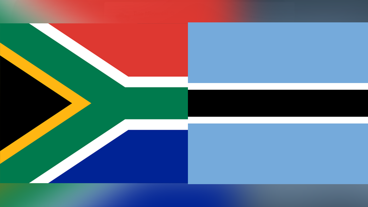 SA and Botswana flags