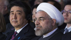 Shinzo Abe and Hassan Rouhani
