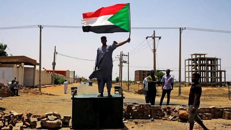 A Sudanese protester