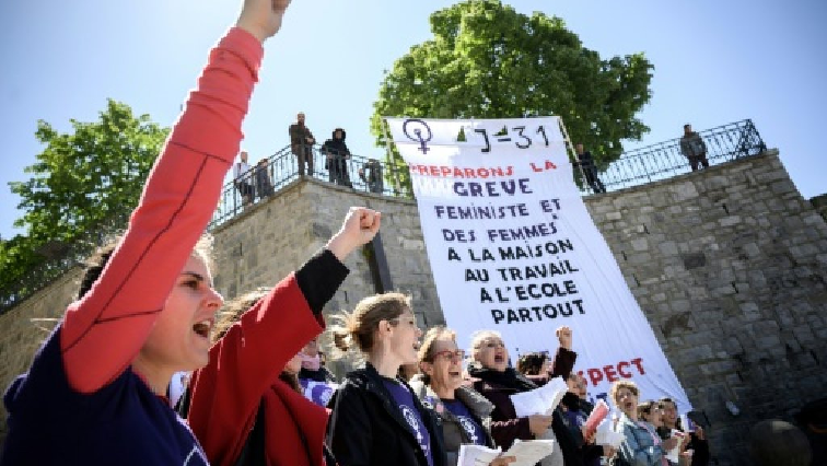 Switzerland equal pay protests.