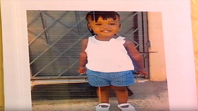 One of the children at the Westdene creche