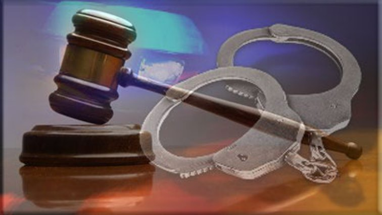Handcuffs and court gavel