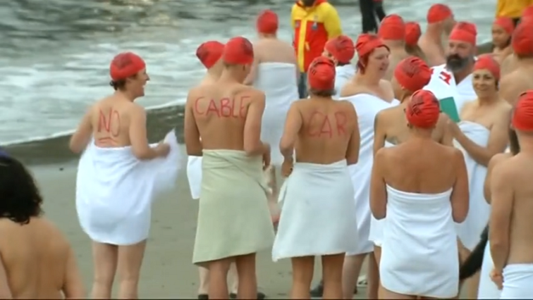 SABC News nude swim R - Australians brave the chill for nude solstice swim in Tasmania