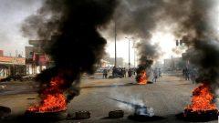Sudanese burning tires
