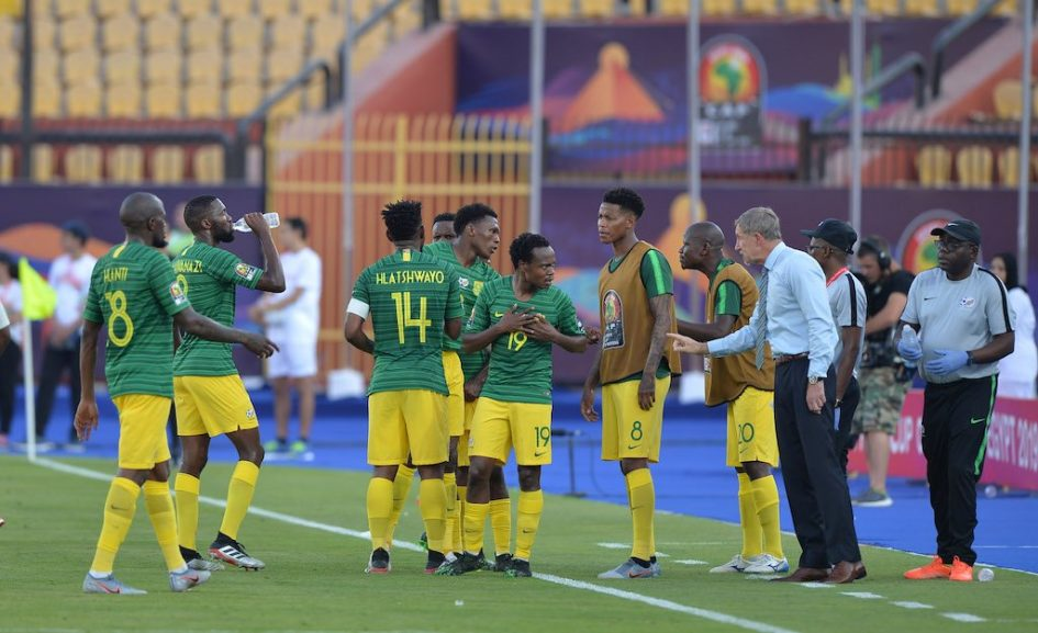 bafana 945x577 - Bafana Bafana stay in hunt for last-16 spot after laboured win