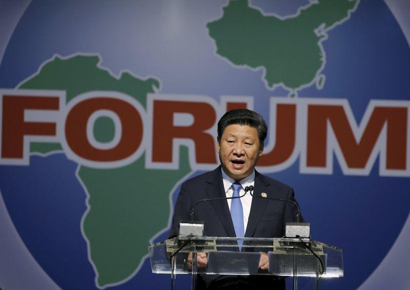 xi ping - China's president and African leaders meet on sidelines of G20