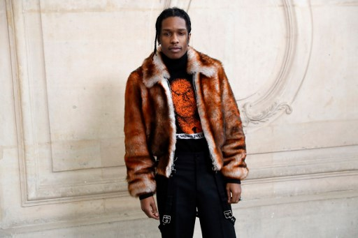 US rapper ASAP Rocky poses before the Christian Dior 2017 spring/summer Haute Couture collection in Paris.