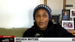 One parent, Brenda Matebe speaking on channel.