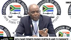 Former State Protocol Chief Bruce Koloane testifying