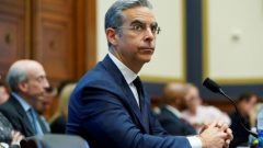 """David Marcus, CEO of Facebook's Calibra, testifies to the House Financial Services Committee hearing on """"Examining Facebook's Proposed Cryptocurrency and Its Impact on Consumers, Investors, and the American Financial System"""" on Capitol Hill."""