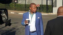 Edward Zuma speaking to the media.