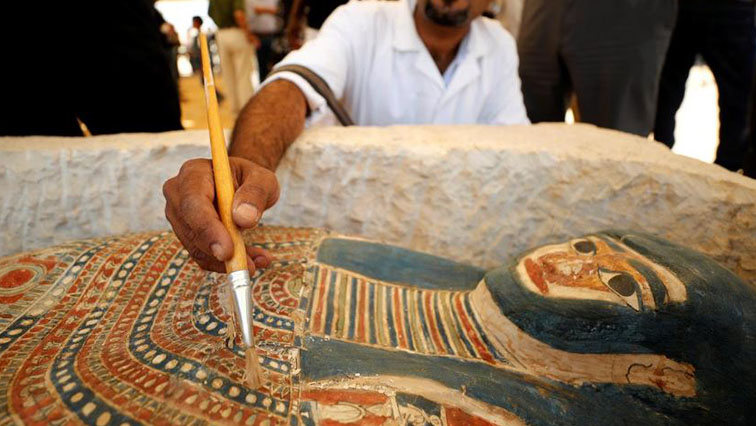 SABC News EgyptReuters - Egypt unveils 5,000 year old artifacts near Sneferu's Pyramid