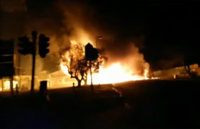 SABC News Explosion - Five injured in fuel tanker explosion