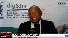 MEC Gordon Kegakilwe during a SABC report.