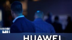 The Huawei logo is pictured on the company's stand during the 'Electronics Show - International Trade Fair for Consumer Electronics' at Ptak Warsaw Expo.