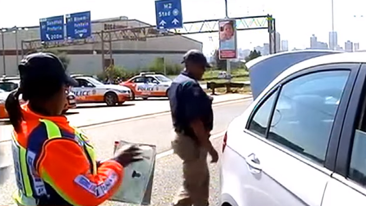 JMPD officers in the street