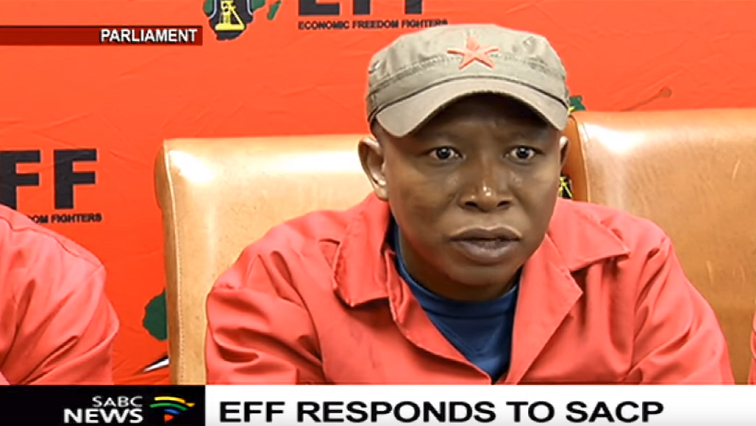SABC News Malema2 - EFF hits back at Hands-Off-Our-Democracy movement, dares the SACP