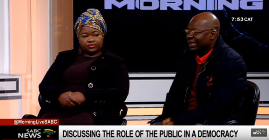 SABC News Morning Live - 'Citizens' education, engagement needed for matters of national importance'