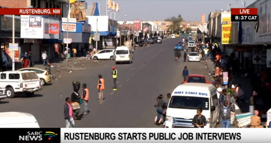 SABC News Rustenburg cbd R - Rustenburg holds public city manager interviews