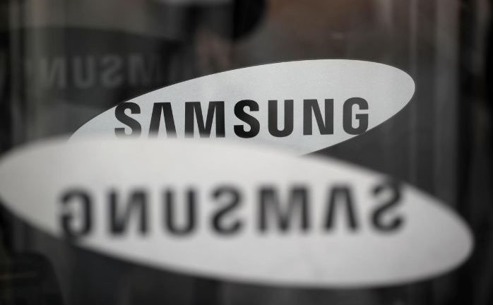 The logo of Samsung Electronics is seen at its office building in Seoul, South Korea.