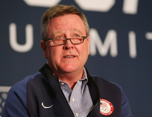 USOC chief executive officer Scott Blackmun during the 2018 U.S. Olympic Team media summit.