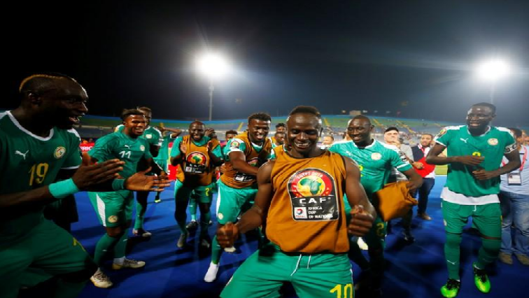 SABC News Senegals Sadio Mane and teammates celebrate after the match R - Cup of Nations final coaches both locals for first time since 1998