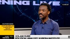 Xolani Dube, political analyst from the Xubera Institute is in studio to discuss this further