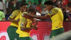 Bafana Bafana celebrating victory