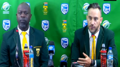 Ottis Gibson and Faf du Plessis