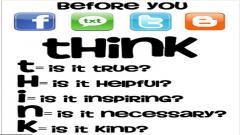 Think before you tweet logo