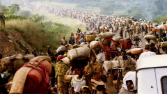 Rwandans fleeing the genocide in 1994