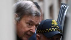George Pell departs the Supreme Court of Victoria, Melbourne.