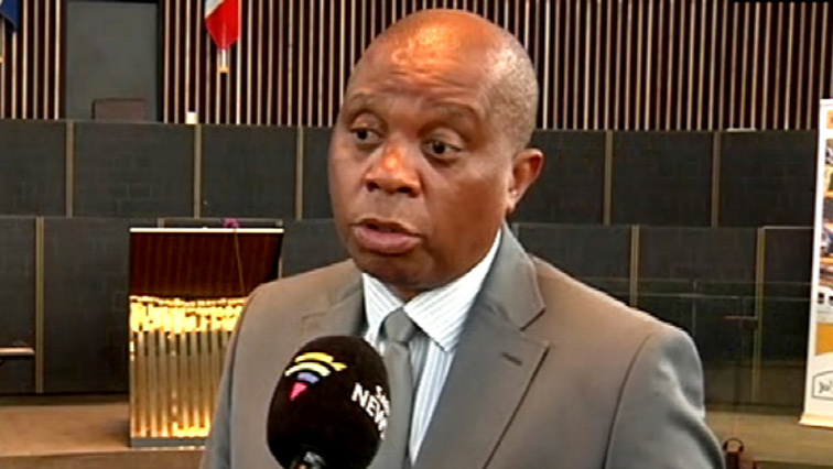 Johannesburg Mayor Herman Mashaba giving comment to an SANC News reporter.
