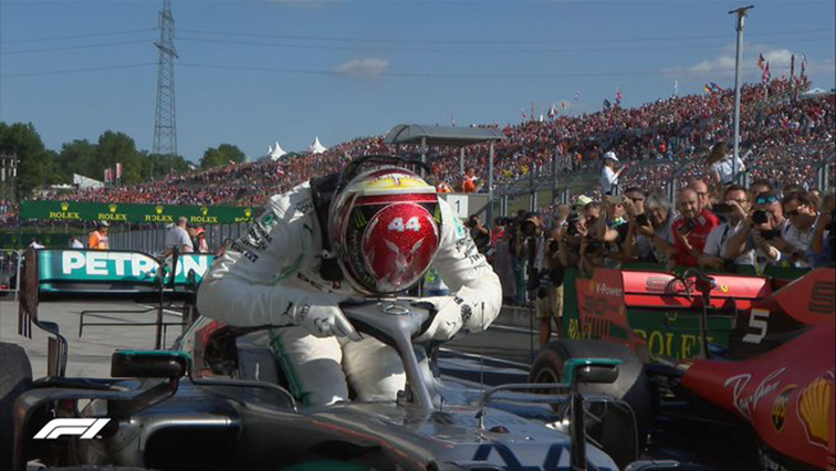SABC News Lewis Hamilton Twitter @F1 - Hamilton wins in Hungary after hunting down Verstappen