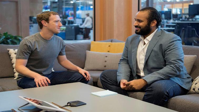 Mark Zuckerberg and Prince Mohammed bin Salman