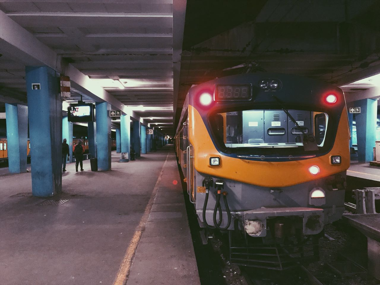 Metrorail train at Station in Cape Town.