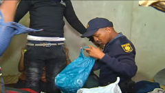 Police during Joburg Raid