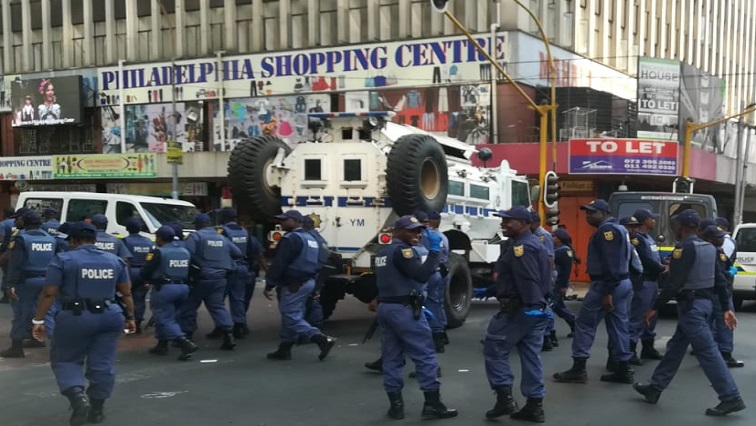 SABC News Raid .jpg Okuhle - Several undocumented foreign nationals arrested in Joburg raid