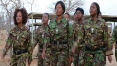 Female rangers walking together