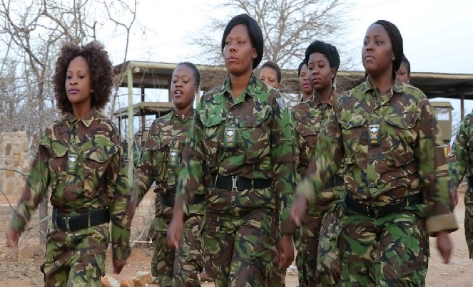 Female rangers walking together