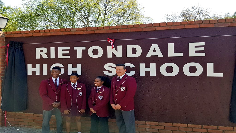 SABC News Rietondale High School Twitter @EducationGP - Hendrik Verwoerd High renamed Rietondale High School