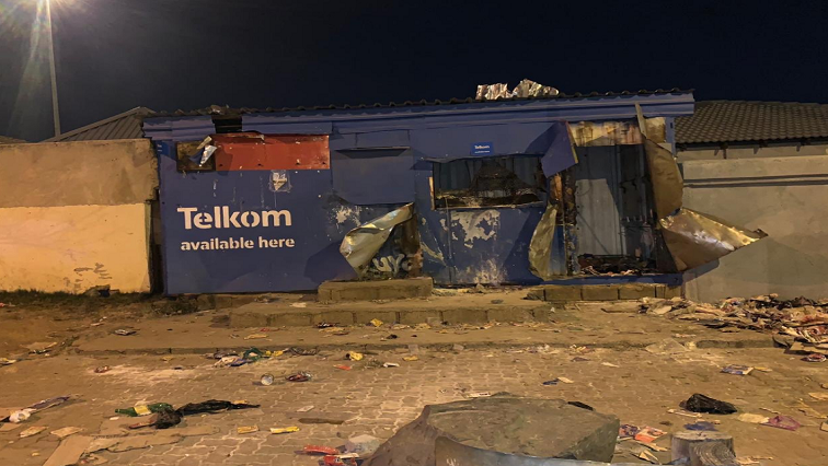 Several shops were looted on Wednesday