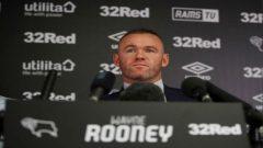 Wayne Rooney at a press conference